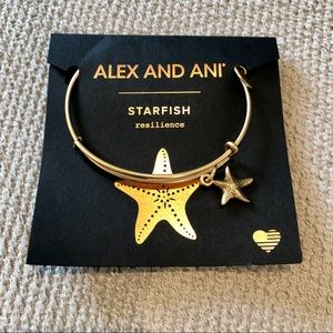 Alex and Ani starfish bangle bracelet gold